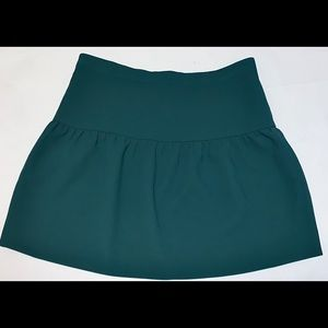 J. Crew Green Crepe Flounce Skirt Sz 6